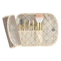 Jacki Design Fyd33103Ch Vintage Allure 5 Pc Make Up Brush Set And Bag Cream