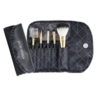 Jacki Design Fyd33103Bk Vintage Allure 5 Pc Make Up Brush Set And Bag Black