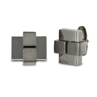 Seville 971221 Men'S Sleek Gunmetal Cuff Links
