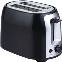 Brentwood Ts-292B 2 Slice Cool Touch Toaster ; Black And Stainless Steel