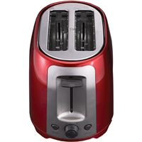 Brentwood Ts-292R 2 Slice Cool Touch Toaster ; Red And Stainless Steel