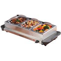 Brentwood Bf-315 Triple Buffet Server Warming Tray