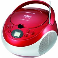 Naxa Npb-252Red Portable Mp3/Cd Player Am/Fm Stereo Radio- Red