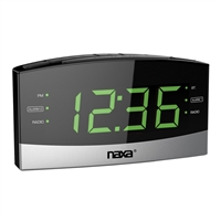 Naxa Nrc-181 Bluetooth Easy-Read Dual Alarm Clock Daily Repeat And Usb Charge