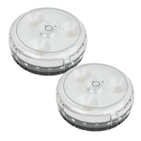 Rite Lite Lpl592 Wireless Battery Touch On/Off Led Micro Puck Light 2-Pack