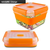 Cool Gear 1710 Expandable Air Tight Food Storage Lunch Box 5.5 Cup Bpa-Free