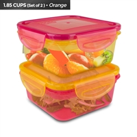 Cool Gear 1933 Air Tight Food Lunch Box Container 1.85 Cup Bpa-Free 2-Pack