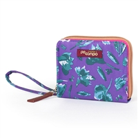 Po Campo Bw4615 Bill Fold Women'S Wallet Purple Petals