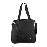 Haiku Hk058-Blk Women'S Journey Eco Tote Bag Black Plum Stitch