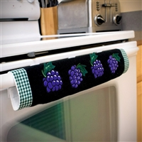 Oh-Grp Oven Door Handle Cover Grape Design