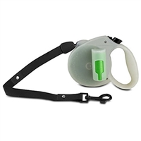 Ec Solutions Gl-1967 Paw Bio Retractable Leash Green Pick-Up Bags Glow In The