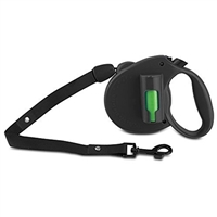 Ec Solutions Bl-1967 Paw Bio Retractable Leash Green Pick-Up Bags Black