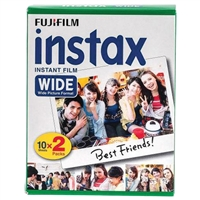Fujifilm 16468498 Instax Wide Film Twin Pk