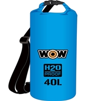 Wow Watersports 18-5100B H2O Proof Dry Bag Blue 40 Liter