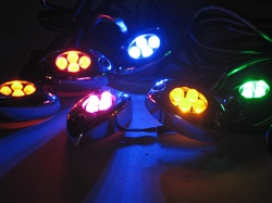 LED Pod Light, 4 LEDs, Oval. Step Light - 12vDC Auto/Motorcycle LED (1-Pack) - High Ouput, Super Bright LED Light Pods at Great Prices only here at www.CreativeLightings.com