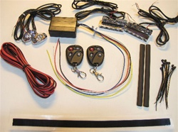 Motorcycle LED Light Kit - 12v RF Remote Control LED Kit, Wiring, Tape, LED Pods and Controller - Easy installation!