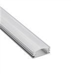 3.3ft/1Meter U Shape LED Aluminum Channel System with Frosted Cover, End Caps and Mounting Clips, Aluminum Profile Channel for LED Strip Light Installations