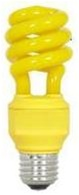 Yellow Light Bulb, Yellow CFL Bug Light Bulb, Fluorescent - 13 Watts.  Save Energy and avoid bugs at the same time with our Yellow CFL Bug Light!  This Bug Lights for you!