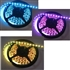 RGB LED Flex Strip - Non-Waterproof, 150 / 300 LED, 12VDC - 12 Inch strip with leads!