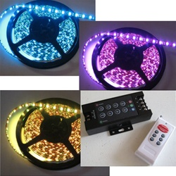 RGB LED Flexible Ribbon Strips | LED Ribbon Tape - Low power consumption, infinite uses.  Bundled with our 22 Program RGB Remote Controlled Touch LED Controller for an unbeatable price!