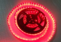 Red LED Flexible Ribbon Strips | LED Ribbon Tape - Low power consumption, infinite uses.  We import our LED Flexible Ribbon spools and Flex Ribbon Tape ourselves to ensure a Quality product and the best possible price to you, our customer!