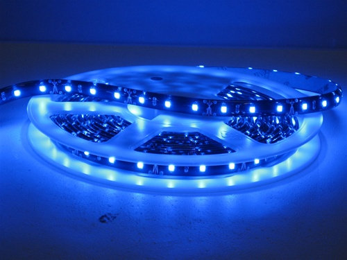 Blue waterproof led flexible ribbon strips led ribbon tape 12 alternative views mozeypictures Choice Image