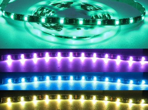 Rgb led strip lights 12 volt dc water proof ip68 black pcb alternative views aloadofball Choice Image