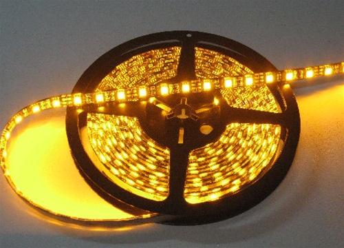 Amber 5050 led strip lights 12vdc led tape lights low power alternative views aloadofball Image collections