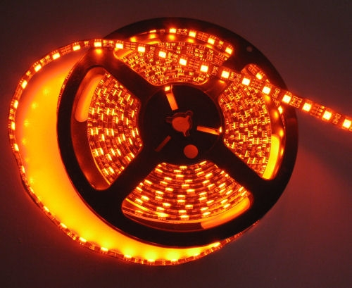 Burnt orange water resistant led flex strips led tape lights low burnt orange led flex strips 12vdc water resistant double density orange aloadofball Image collections