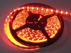 Ruby Red LED Flex Strips -12vdc, Water Resistant, Double Density, Red, High Output - 5M Spool