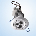 LED 9W Down Light Fixture, 3 High power LEDs, 120V, Day White