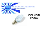 LED Night Light Bulb, LED Candle Bulb - 7 Lumens - Pure White