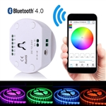 LED RGB & RGBW Strip Light Controller, for iOS/Android-App Bluetooth Controller, 12/24 VDC Input, 4x4A/ch, Multi Function Support for both IPhone & Android