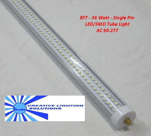LED T8 Fluorescent Light Tube - 3500 Lumens, 8 foot, Day White, 36 ...