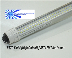LED SMD T10 Tube Light - 3500 Lumens, 8 foot, Day White, 36 Watt, 580LED, 90V-277VAC, High Output/R17D, Clear Lens, Commercial Grade - UL Approved!