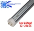 LED SMD T8 Tube Light - 1550 Lumens, 4 foot, Day White, 17 Watt, 300 LED, 12-24VDC, Clear Lens, Commercial Grade