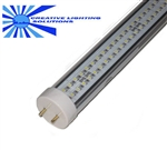 Dimmable LED T8 Tube Light, 4 foot Day White, 17W, 300LED, 120VAC Dimmable, Clear Lens, Commercial Grade - Top Quality