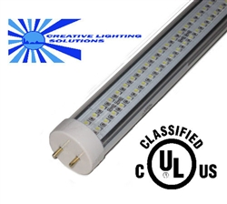LED SMD T8 Fluorescent Light Tube, 4 ft, Warm White, 18 W, 288 LED, 90V-277V, Commercial Quality, ETL/UL Approved