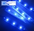 Blue Waterproof LED Module - 12vDC 3 SMD 2835 Samsung LEDs, White Case
