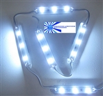 Bright White Waterproof LED Module - 12vDC 3 SMD 5050 LEDs, White Case - 9500K / Samsung LEDs