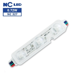 RGB Waterproof LED Module - 12vDC 3 5050 RGB LEDs, White Case