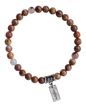 Gold Mountain Agate Bracelet EXPLORE - zen jewelz