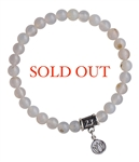 White Agate Bracelet INTERNAL CALMNESS - zen jewelz