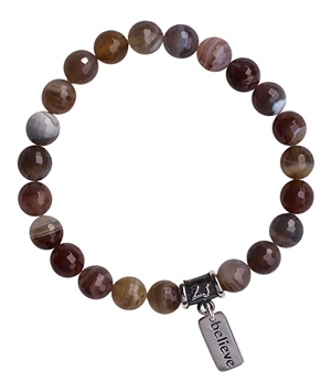 Botswana Agate Bracelet SELF ESTEEM | zen jewelz by ZenJen