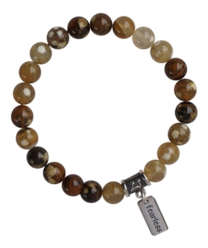 Fire Agate Bracelet BE FEARLESS - zen jewelz