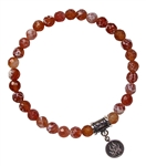 Crackled Fire Agate Bracelet ELEMENT FIRE- zen jewelz