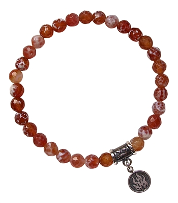 ELEMENT FIRE - Crackled Fire Agate Bracelet - zen jewelz