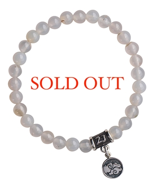 White Agate Bracelet ELEMENT AIR - zen jewelz