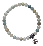 COURAGE - Aquamarine Healing Crystal Bracelet - zen jewelz