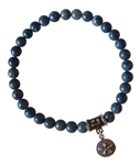INNER CHILD - Blue Coral Healing Crystal Bracelet - zen jewelz